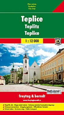 Teplice 1:10 000 / city map (soft cover)