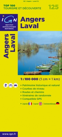 IGN 125 Angers Laval 1:100 000