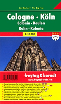 Cologne 1:10 000 / laminated holiday map