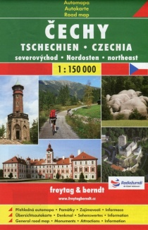 Czechia - northeast / road map
