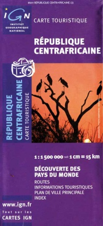 Central African Republic 1:1 500 000 / road map