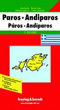 Greece - Paros + Antiparos / road map | freytag & berndt