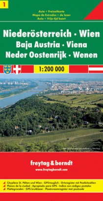 Austria - Lower Austria + Vienna / road map